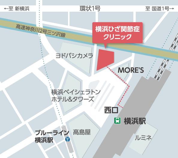 横浜ひざ関節症クリニック 地図