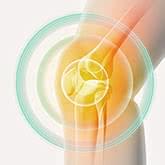 治療効果を受けるひざ関節