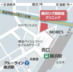 横浜ひざ関節症クリニック アクセスマップ