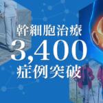 ひざの幹細胞治療の実績が、3,400例以上となりました